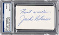 Baseball Collectibles:Others, 1960's Jackie Robinson Signed Cut Signature, PSA/DNA Mint 9. ...