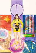 Original Comic Art:Covers, Dave Gibbons and John Higgins Watchmen Les Gardiens (FrenchEdition) #5 Cover Painting Silk Spectre Original Art (...