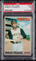 Baseball Cards:Singles (1970-Now), 1970 O-Pee-Chee Roberto Clemente #350 PSA NM 7....