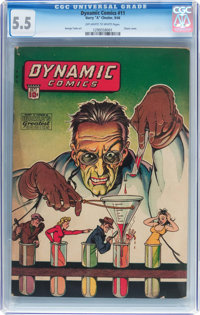 Dynamic Comics #11 (Chesler, 1944) CGC FN- 5.5 Off-white to white pages