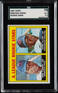 Baseball Cards:Singles (1960-1969), 1967 Topps Rod Carew - A.L. Rookies #569 SGC 70 EX+ 5.5....