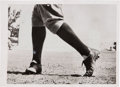 Baseball Collectibles:Photos, 1938 Babe Ruth's Legs Original News Photograph, PSA/DNA Type 1....