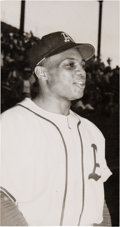 Baseball Collectibles:Photos, 1950 Willie Mays Almendares Scorpions (Cuba) Original Photograph,PSA/DNA Type 1....