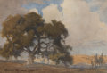 Fine Art - Painting, American:Modern  (1900 1949)  , Percy Gray (American, 1869-1952). Oak Tree, 1910. Watercoloron paper. 5 x 7 inches (12.7 x 17.8 cm) (sheet). Signed and...