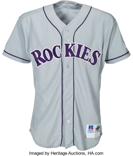 sports shoes 749f4 cf3a5 1996 Larry Walker Game Worn Colorado Rockies Jersey ...