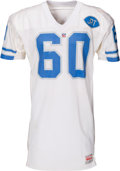 Football Collectibles:Uniforms, 1991 Mike Utley Game Worn, Signed Detroit Lions Jersey....