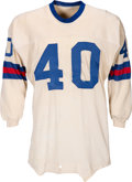 Football Collectibles:Uniforms, 1970-71 Joe Morrison Game Worn New York Giants Jersey - From Morrison Estate. ...