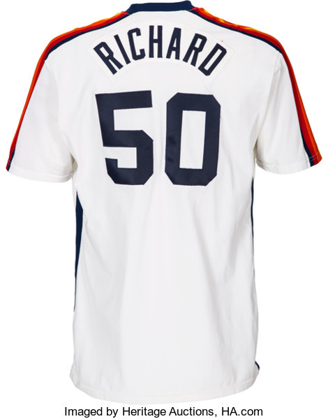 hot sales 74bf3 11020 1982 J.R. Richard Game Worn Houston Astros Jersey.... Baseball   Lot  81397    Heritage Auctions