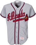 Baseball Collectibles:Uniforms, 1992 Deion Sanders Game Worn Atlanta Braves Jersey....