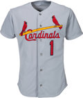 Baseball Collectibles:Uniforms, 1992 Ozzie Smith Game Worn St. Louis Cardinals Jersey. ...