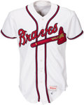 Baseball Collectibles:Uniforms, 1992 Tom Glavine Game Worn Atlanta Braves Jersey....
