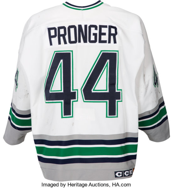 1994-95 Chris Pronger Game Worn Hartford Whalers Jersey.... Hockey ... d8d8e9f41