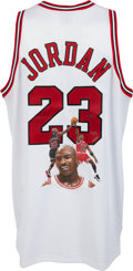 Basketball Collectibles:Uniforms, 2000 Michael Jordan Signed Chicago Bulls UDA Jersey with LimitedEdition Artwork.. ...