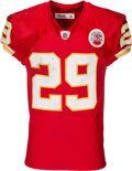 Football Collectibles:Uniforms, 2010 Eric Berry Game Worn Rookie Playoff, Unwashed Kansas City Chiefs Jersey....