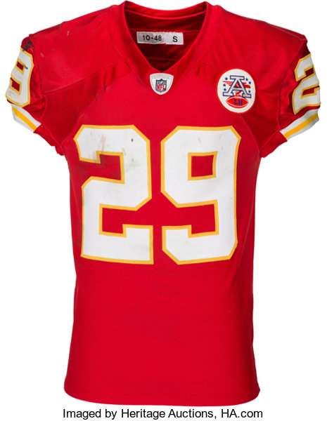 newest 96f0a 6d88e 2010 Eric Berry Game Worn Rookie Playoff, Unwashed Kansas ...