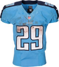 Football Collectibles:Uniforms, 2016 DeMarco Murray Game Worn, Signed, Unwashed Tennessee Titans Jersey - Used 10/9...