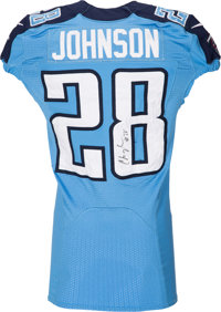 finest selection 1dca8 7414e 2012 Chris Johnson Game Worn, Signed Tennessee Titans Jersey ...