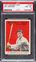 Baseball Cards:Singles (Pre-1930), 1915 Cracker Jack Joe Jackson #103 PSA NM-MT 8....