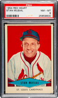 Baseball Cards:Singles (1950-1959), 1954 Red Heart Stan Musial PSA NM-MT 8....
