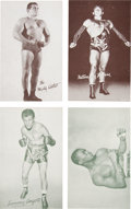 Boxing Cards:General, 1950's-60's Exhibits Boxing and Wrestling Cards Collection (45)....