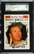 Baseball Cards:Singles (1960-1969), 1961 Topps Mickey Mantle All Star #578 SGC 96 Mint 9 - NoneHigher....