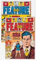Golden Age (1938-1955):Miscellaneous, Feature Comics #113 and 116 Group (Quality, 1947).... (Total: 2 Comic Books)