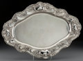 Silver Holloware, American:Trays, A Gorham Art Nouveau Silver Serving Tray, Providence, Rhode Island,1914. Marks: (lion-anchor-G), STERLING, A584, 20 IN, ...