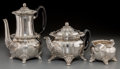 Silver Holloware, American:Tea Sets, A Three-Piece Tiffany & Co. Chrysanthemum Pattern Teaand Coffee Set, New York, post-1965. Marks: TIFFANY & CO...(Total: 3 Items)