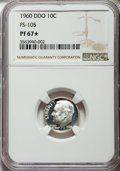 Proof Roosevelt Dimes, 1960 10C Doubled Die Obverse, FS-105, PR67 ★ NGC. NGC Census: (0/0and 0/0*). PCGS Population...