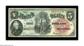 Large Size:Legal Tender Notes, Fr. 64 $5 1869 Legal Tender Gem New. Super color and bold, originalembossing are both to be found on this Rainbow Pioneer F...