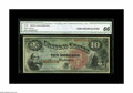 Large Size:Legal Tender Notes, Fr. 96 $10 1869 Legal Tender CGA Gem Uncirculated 66. Very nicelycentered on both sides, with strong color of the inks, pap...