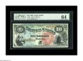 Large Size:Legal Tender Notes, Fr. 96 $10 1869 Legal Tender PMG Choice Uncirculated 64. ThisRainbow Ten has beautiful color and very nice face margins. Th...