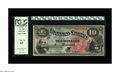 Large Size:Legal Tender Notes, Fr. 96 $10 1869 Legal Tender PCGS Choice New 63. A bit tight acrossthe top on the face, and the bottom on the back. Other t...