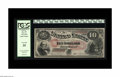 Large Size:Legal Tender Notes, Fr. 97 $10 1875 Legal Tender PCGS Very Fine 35. Fewer than a dozenFr. 97's are known, and there is not a single uncirculate...