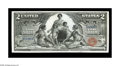 Large Size:Silver Certificates, Fr. 247 $2 1896 Silver Certificate Superb Gem New. A beautifullymargined Educational Two, with excellent original embossing...
