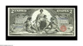 Large Size:Silver Certificates, Fr. 248 $2 1896 Silver Certificate Superb Gem New. A gloriouslyfresh Educational Two, with excellent centering, deep, origi...