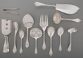 Silver Flatware, American:Tiffany, Twelve Tiffany & Co. Beekman Pattern Silver ServingPieces, New York, designed 1869. Marks: TIFFANY & CO.,STE... (Total: 12 )