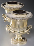 Silver Holloware, British:Holloware, A Fine Pair of Paul Storr Silver-Gilt Wine Coolers for Rundell,Bridge & Rundell, London, 1813. Marks to bodies: (lion passa...(Total: 2 Items)