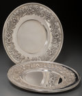 Silver Holloware, American:Plates, Three S. Kirk & Son Inc. Silver Plates, Baltimore, Maryland,circa 1932-1979. Marks: S. KIRK & SON INC., STERLING, 188F,H... (Total: 3 Items)