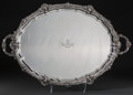 Silver Holloware, British, A Harrison Brothers & Howson Silver Tray, London, 1908. Marks:(lion passant), (leopard's head), n, G.H. 18-3/4 inches h...