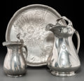 Silver Holloware, Continental, A Group of Three Kayserzinn Pewter Table Articles, Krefeld,Germany, early 20th century. Marks to all: KAYSERZINN, 27,445... (Total: 3 Items)
