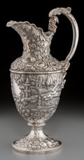 Silver & Vertu:Hollowware, An American Baltimore-Region Coin Silver Landscape Ewer, circa 1830-1865. 15-1/4 inches high (38.7 cm). 42.75 troy ounces. ...