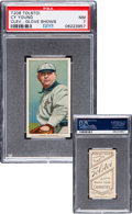 Baseball Cards:Singles (Pre-1930), 1909-11 T206 Tolstoi Cy Young (Glove Shows) PSA NM 7 - Pop two, None Higher....