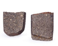 Meteorites:Stoney Irons, 2 NWA Stony Meteorite Slices . Unclassified (Morocco). 1.43 x 1.10 x 0.19 inches (3.63 x 2.79 x 0.47 cm). ... (Total: 2 Items)