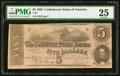 Confederate Notes:1862 Issues, T53 $5 1862 PF-2 Cr. 382.. ...