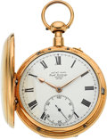 Timepieces:Pocket (pre 1900) , James McCabe Royal Exchange London Rare Gold Half-Quarter Hour Repeater, circa 1822. ...