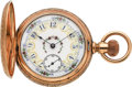 Timepieces:Pocket (pre 1900) , Waltham 14k Gold 21 Jewel American Watch Co. Model 88 With FancyDial, circa 1893. ...
