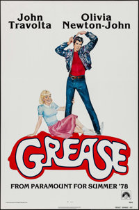 "Grease (Paramount, 1978). One Sheet (27"" X 41""). Advance. Musical"
