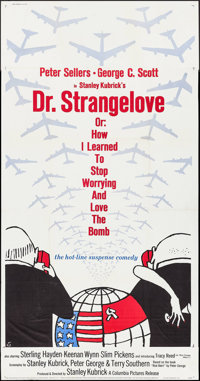 "Dr. Strangelove or: How I Learned to Stop Worrying and Love the Bomb (Columbia, 1964). Three Sheet (41"" X 78"")..."
