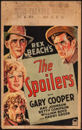 """Movie Posters:Western, The Spoilers (Paramount, 1930). Window Card (14"""" X 22""""). Western.. ..."""